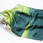 Chusta Jedwabna Zielone Pasy